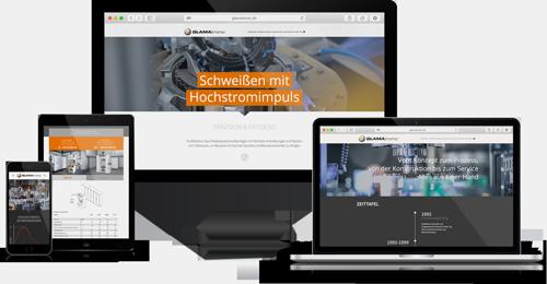 Webpräsentation GLAMAtronic, Corporate Integration